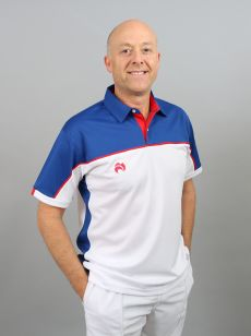 Madrid Polo - White/Royal Blue/Red