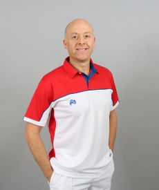Madrid Polo - White/Red/Royal Blue