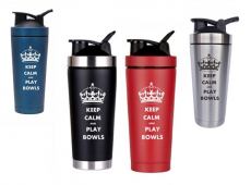 Keep Calm and Play Bowls Double Vacuum Flasks